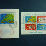 Romania, 1975 LP. 891, 892 Conferinta securitate Helsinki colite stampilate - Timbre Romania