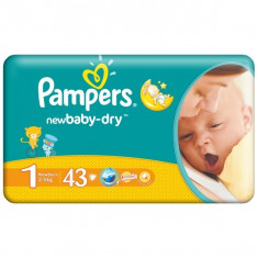 PAMPERS NR.1 NEW BORN 2-5KG 43BUC