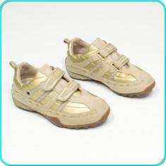 DE FIRMA → Pantofi sport / adidasi, comozi, practici, piele, GEOX → fete | nr 29 - Pantofi copii Geox, Culoare: Auriu, Piele naturala