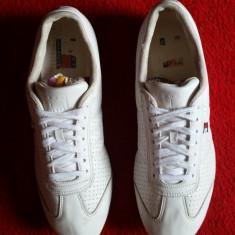 Adidasi Tommy Hilfiger originali, piele naturala, nr.46-30 cm. - Adidasi barbati Tommy Hilfiger, Culoare: Alb