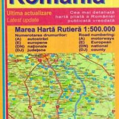 Marea harta rutiera a Romaniei 1:500000 - Ghid de calatorie