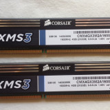 Kit Dual Channel Memorie Ram Corsair 4 GB (2 X 2 GB) 1600Mhz., DDR 3