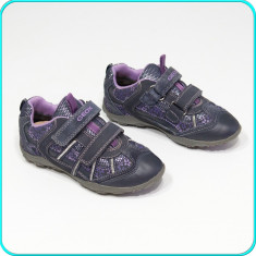 DE FIRMA → Pantofi sport, piele, usori, aerisiti, practici, GEOX → fete | nr. 30 - Pantofi copii Geox, Culoare: Din imagine, Piele intoarsa