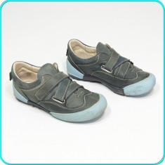 Pantofi din piele, comozi, usori, practici, calitate HOKIDE → baieti | nr. 32 - Pantofi copii, Culoare: Bleumarin, Piele naturala
