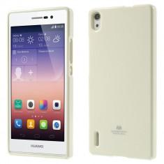 Carcasa protectie spate pentru Huawei Ascend P7, alba - Husa Telefon Mercury