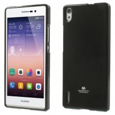 Carcasa protectie spate pentru Huawei Ascend P7, neagra - Husa Telefon Mercury