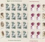 ROMANIA 2008 LP 1815 ZIUA  MARCII POSTALE-REGINA  MARIA MINICOLI 16 TB+4 VINIETE, Nestampilat