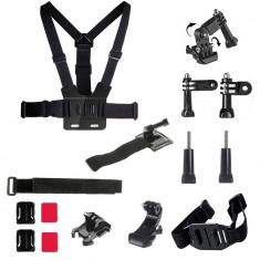 Kit 15 in 1 accesorii pentru camere sport - Geanta Camera Video