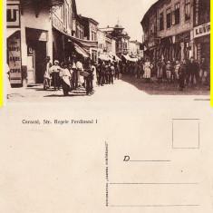 Caracal ( Olt )- Strada Regele Ferdinand- rara - Carte Postala Oltenia 1904-1918, Necirculata, Printata