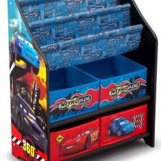 Organizator carti si jucarii cu cadru din lemn Disney Cars - Set mobila copii