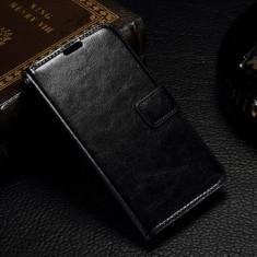 Husa protectie pentru Microsoft Lumia 550 - neagra - Husa Telefon Microsoft, Piele Ecologica, Cu clapeta