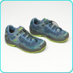 DE FIRMA → Pantofi sport / adidasi, impermeabili+aerisiti, LOWA → baieti | nr 34 - Pantofi copii, Culoare: Albastru, Piele intoarsa