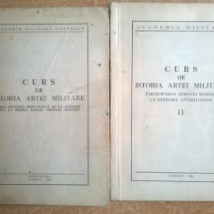 Academia Militara - Curs de istoria artei militare {2 volume, 1968} - Carte Istorie