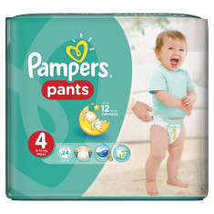 PAMPERS SCUTEC PANTS NR.4 MAXI 9-14KG 24BUC - Scutece unica folosinta copii