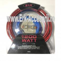 KIT cablu + sigurante pentru subwoofer RAA 1200 AL-TCT-1957 - Conectica auto