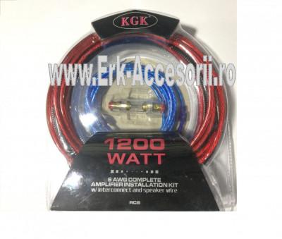 KIT  cablu + sigurante pentru subwoofer RAA 1200 AL-TCT-1957 foto