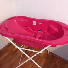 Cădiță de baie și saltea de înfășat - Masuta/scaun copii