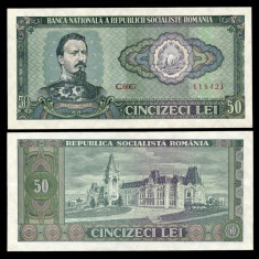 BANCNOTA 50 LEI 1966 UNC NECIRCULATA - Bancnota romaneasca