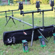 Rod Pod RP1 Baracuda 3 lansete + 3 Avertizori Gen Jrc + 3 Swingeri Ilumnare, 3 posturi