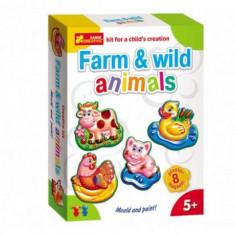 Set Creativ Copii Animale Salbatice Si Ferma - Jocuri arta si creatie