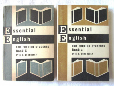 ESSENTIAL ENGLISH for Foreign Students, Book 3 + 4 , C. E. Eckersley, 1967 foto
