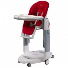 Scaun masa bebe 3 in 1 Peg Perego TATAMIA, NOU, culoare grena - Masuta/scaun copii Altele