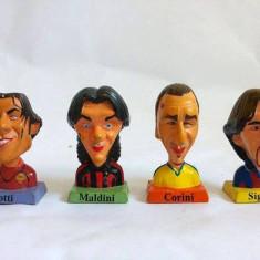 Lot 4 figurine fotbalisti Italia bust Totti, Maldini, Corini, Signori, 4cm, G.P.