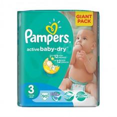 Scutece Pampers Giant Pack 3 Active Baby Pentru Copii - Scutece unica folosinta copii