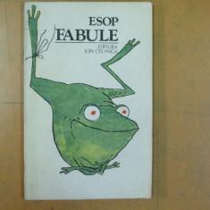 Esop Fabule ilustratii Matty Aslan Bucuresti 1984 - Carte poezie copii