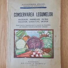 ALEXANDRINA ANGHEL- CONSERVAREA LEGUMELOR- 1945