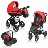 Carucior Crooner 3 in 1 Red - Carucior copii 2 in 1