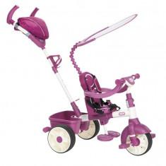 Tricicleta Sport 4In1 (Roz Cu Alb) - Tricicleta copii Little Tikes