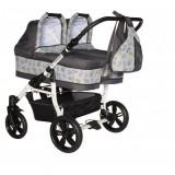 Carucior gemeni PJ Stroller 2 in 1 Grey