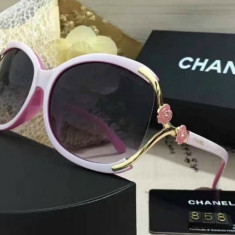 Ochelari de soare Chanel - so real 2017 - ROZ, Femei, Negru, Ovali, Plastic, Protectie UV 100%