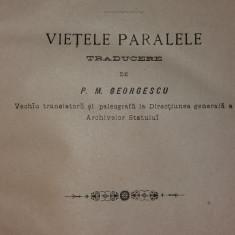 PLUTARCHU / PLUTARH - VIETILE PARALELE - Carte veche