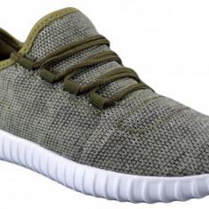 Pantofi Casual Sport Barbati Verzi Panza Talpa Usoara din Spuma - Adidasi barbati, Marime: 40, 41, 44