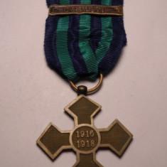 Crucea Comemorativa 1916 1918 cu Bareta Carpati - Ordin