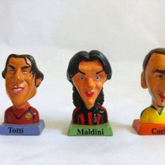 Lot 3 figurine fotbalisti Italia (fotbal) bust Totti, Maldini, Corini, 4cm, G.P.