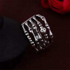 Inel PUNK inox - model BONES - diametru 22 mm