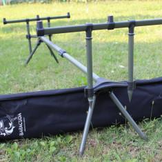 Rod Pod Baracuda RP1 Suport Lansete Crap cu 4 Picioare 2 Fata -2 Spate Stabil