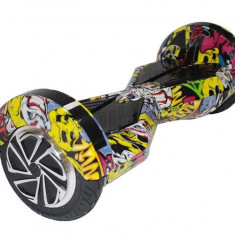 Scooter Electric Myria My7003 Smart Ride 8M Galben Graffiti 8 Inch - Hoverboard