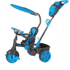 Tricicleta 4In1 Albastra Neon - Tricicleta copii Little Tikes