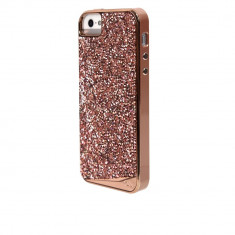 Husa Fashion dual layer Case-Mate Brilliance pentru Apple iPhone SE/5s/5, Rose Gold - Masa de calcat