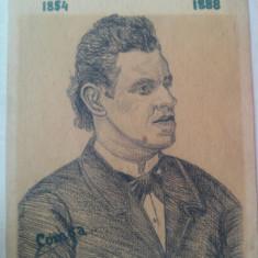 Portret in creion Ciprian Porumbescu autor fiul lui Petru Comsa din Saliste - Reproducere