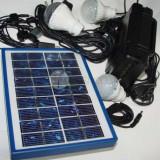 Kit incarcare solara,sistem iluminare,panou incarcator solar,4Ah,usb