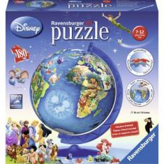 Puzzle Globul Disney 180 piese Ravensburger - Jocuri arta si creatie