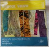 DISC LP RCM: ANATOL VIERU-CONCERTO FOR VIOLIN,CELLO&ORCH/NARRATION/SCREEN (1984), VINIL