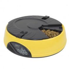 Aproape nou: Hranitoare automata programabila PNI MyPet Meal pentru mancare, Galben