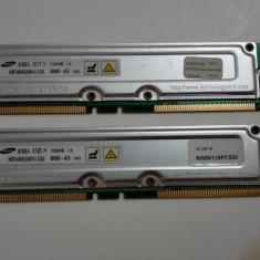 Kit 256Mb(2x128Mb) RAMBUS PC800 Samsung - Memorie RAM Samsung, Altul, 400 mhz