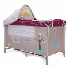 Patut pliant copii Friend Purple Moni - Patut pliant bebelusi